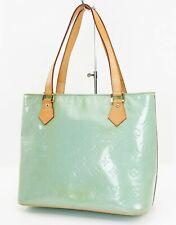 Authentic LOUIS VUITTON Houston Baby Blue (Green) Vernis Tote Bag Purse #37700