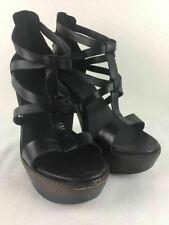 UGG AUSTRALIA Salima Black Leather Heels Size 8