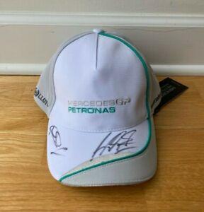 Michael Schumacher Nico Rosberg Signed Autographed Mercedes GP Hat - NEW