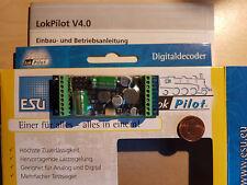 Esu 54640 LokPilot XL v4 dcc/mot/mfx/m4 con los bornes con tornillos incl. Power Pack nuevo