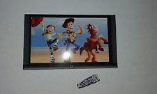 1 / 12th scale parete in miniatura TV TELEVISIONE, remote + GRATIS PERSONALIZZAZIONE