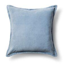 """Threshold Velvet Throw Pillow Cover Blue 18""""x18"""""""