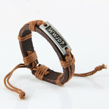 2018 Fashion Leather Bracelet with Jesus Christ do What Would Jesus Do WWJD Gift