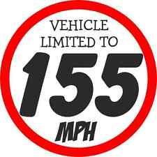 Mitsubishi Evo Adhesivo Pegatina de velocidad velocidad del vehículo restringido Calcomanía