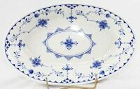 Furnivals Limited-Denmark-8 Inch Vegetable Bowl-1890-1913-Blue White Lace-Englis