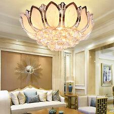 Modern LED Lotus Crystal Ceiling Lighting Chandelier Home Bar Pendant TWUS