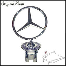 Star Emblem Badge Logo Bonnet Hood Standing For Mercedes Bonnet series S E C CLK