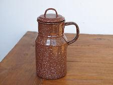 P7233  Email Wasserkrug - Flasche - EMAILLE - Wasserkanne - KANNE - braun