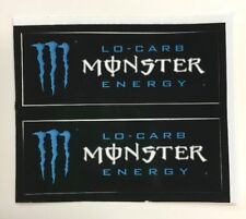Monster Energy Drink LO-CARB Stickers (2) Unused NOS