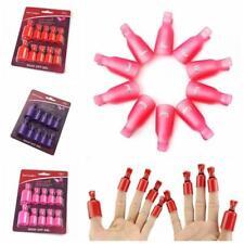 10x acrílico Nail Art inteligente Soak Off Clip Cap UV Gel Polish Remover Wrap