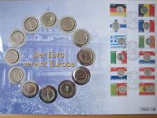 """MDS NUMSIBRIEF 12 x 1 EURO  2002 - 2003 """"DER EURO VEREINT EUROPA"""""""