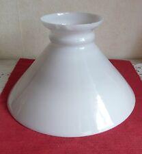 Abat jour opaline,verre,lustre, lampe pétrole, lampe électrique 295 mm  N°206