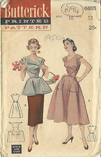 """1950s Vintage Sewing Pattern COVERALL-APRON B30"""" (R194)"""