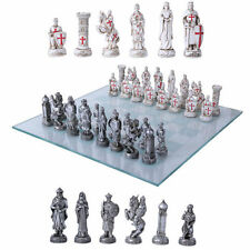 Crusaders vs Ottomans Medieval Chess Set With Glass Board Superb Detail