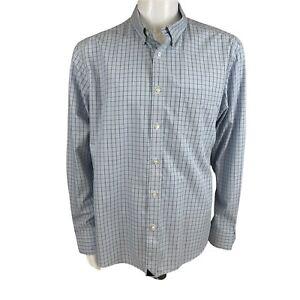 UNTUCKit Blue Plaid Long Sleeve Button Down Wrinkle Free Shirt XL