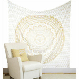 Home Décor Tapestry 100% Cotton Wall Hanging Bohemian Hippie  Mandala Throw