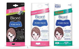 NEW BIORE Charcoal Deep Cleansing Black Nose Strips Removes Blackheads Pore Pack