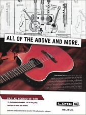 """The Line 6 Variax acoustic 700 guitar 8"""" x 11"""" advertisement 2005 ad print"""