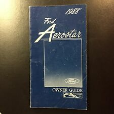 1988 Ford Aerostar owner manual