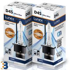 2 x D4S LUNEX XENON Original Headlamp P32d-5 6000K Ultra Blue 35W DuoBox