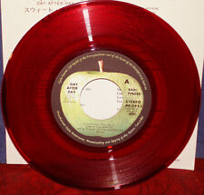 """BADFINGER """"Day After Day"""" 1972 Japan ONLY Apple RED VINYL 7"""" w/ps BEATLES WINGS"""