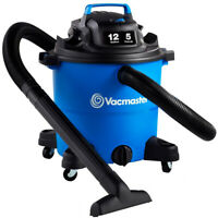 VACMASTER 12 Gal. Wet/Dry Vacuum with Polypropylene Tank, Blower Port, Canisters