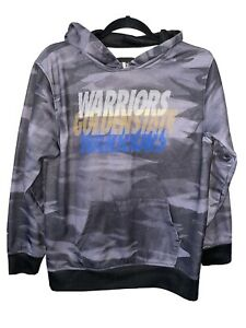 Golden State Warriors NBA Sweatshirt Camo Hoodie Long Sleeve Top Boy's Size XL