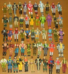 "1983-1994 Lot of 8 Figure Vintage ARAH GI Joe Cobra 3.75"" Body Part Piece Repair"