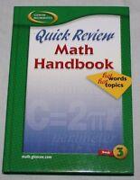 Glencoe Math Bk 3: Quick Review Math Handbook-Hot Words, Hot Topics (2004, HC)