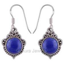 Solid 925 Sterling Silver Natural Lapis Lazuli Drop & Dangle Earrings #E2130-4