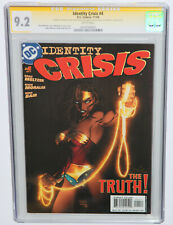 IDENTITY CRISIS #4 CGC 9.2 SS by MICHAEL BAIR ON INSERT, TURNER COVER, WHITE PGS