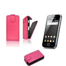 Flip Style Case Samsung Galaxy Ace S5830 Handy Klapp Tasche Pink  Hülle