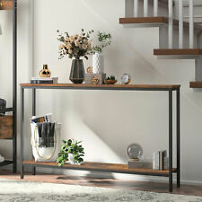 HOOBRO Console Table Narrow Entryway Table Sofa Table with Shelf Industrial