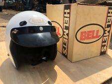 Vintage Bell Dot - White / Gold Helmets with Visors - 1970