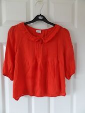 Next Girls Orange 3/4 Sleeve Shirt Size 8 Years