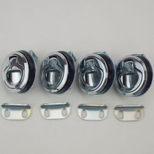 4PCS Marine Boat Deck Hatch Flush Pull Latch Lock Cabin Hardware Silver