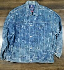 KARL KANI DENIM VTG Vintage Spell Out Jacket Size XL