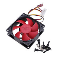 12V DC 80mm 2200RPM Silent High Performance Computer PC 3 Pin Case Cooling Fan