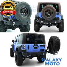 Rock Crawler HD X-Cutout Rear Bumper W/Tire Carrier fit 07-17 Jeep JK Wrangler