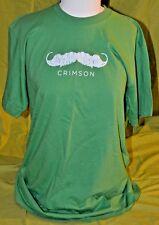 American Apparel Crimson Moustache T-shirt Green L 100% Cotton