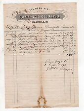 fattura antica - GASTALDI GIUSEPPE CALZOLAJO TORINO 1874