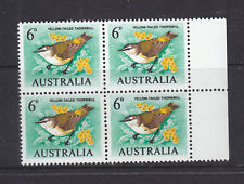 6d Yellow Tailed Thornbill Helicon Paper Muh Block Of 4
