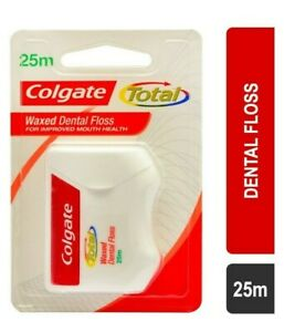 Colgate Total Waxed Dental Floss 25m   For Improved Mouth Health