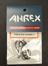 Ahrex TP650 Bent 26º Predator Streamer Hooks New/Sealed 12 Hook Pack Size #1
