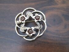 Sarah Coventry Pin or Brooch Costume Jewelry 3 Flowers & Leaves