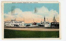 Ferry Landing—Prescott ONTARIO Rare Antique Boat PC ca. 1906