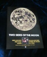 The Who Keith Moon rare 1975 poster 2 sides of the moon Daltry Townshend vintage