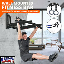 US Indoor Gym Wall Mount Pull up Bar Chin Exercise Equipment Upper Body Workout