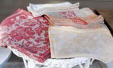 Vintage  Fieldcrest Belgium Large Damask Linen Napkin Huge Set Wedding Table