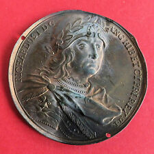 RICHARD I 1189 - 1199 DASSIER 40mm UNIFACE PRESSED BRONZE MEDAL